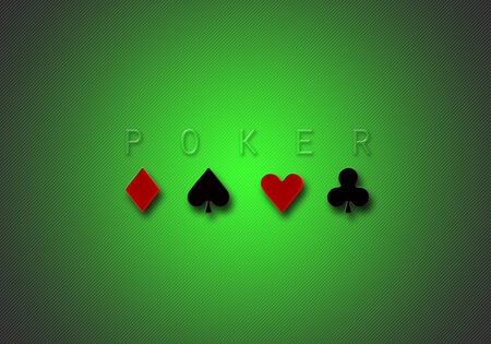computer generated green poker gradient stripes illustration illustration