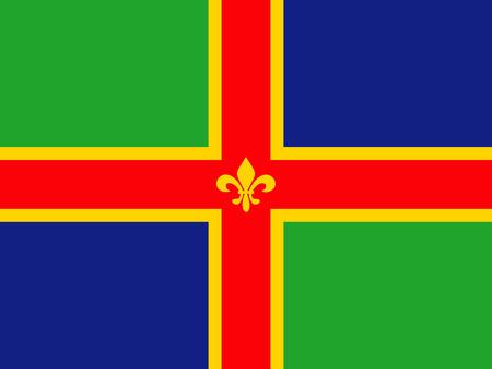 Lincolnshire County gens ethnique pays drapeau de l'angleterre Banque d'images - 25967643