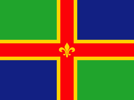 lincolnshire county people ethnic england country flag Illusztráció