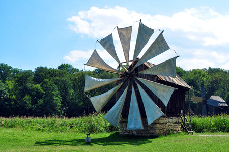 anthropological: sibiu romania ethno museum wood wind mill