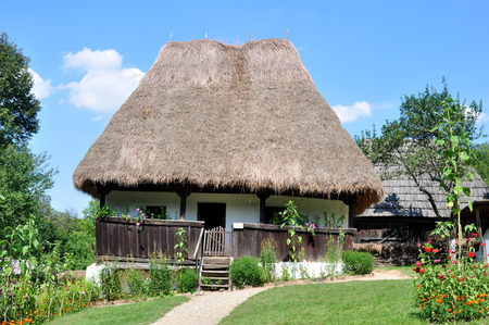 anthropological: sibiu romania ethno museum village house architecture Stock Photo