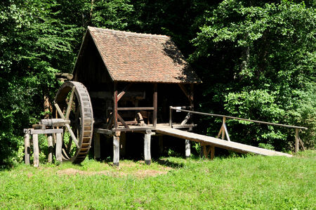 ethno: sibiu romania ethno museum wood water mill