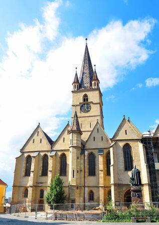 lutheran: Sibiu city Romania Lutheran Cathedral architecture detail