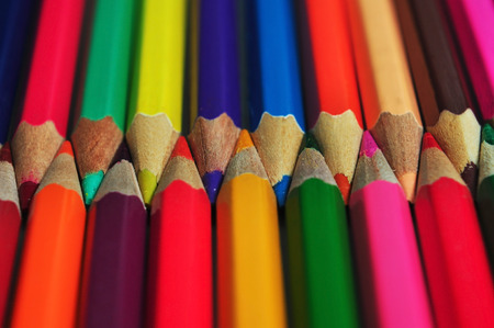 sharpen: sharpen color pencils background object texture pattern Stock Photo