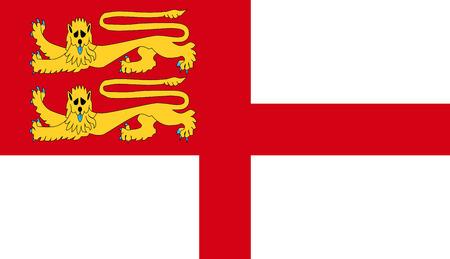 sark: Bailiwick of Guernsey part sark island flag symbol Stock Photo