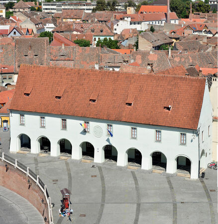 guilds: Museum of Ethnography and Folk Art sibiu city romania architecture landmark Stock Photo