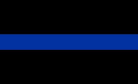 azul: bandeira fina linha azul símbolo aplicação da lei Imagens