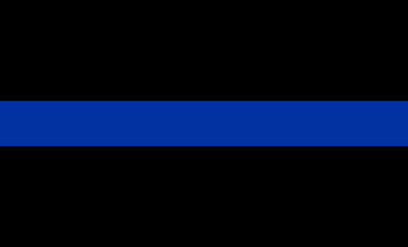 to the line: thin blue line flag law enforcement symbol