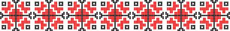 ルーマニアの伝統的な民族衣装モチーフのシームレスなパターン  イラスト・ベクター素材