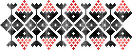 Roemeense traditionele etnische kostuum motief echte patroon