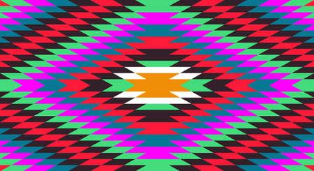 アメリカのネイティブの伝統的な民族衣装のモチーフのシームレス パターン