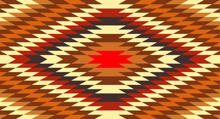 ネイティブ アメリカンの伝統的な民族衣装のモチーフのシームレスなパターン