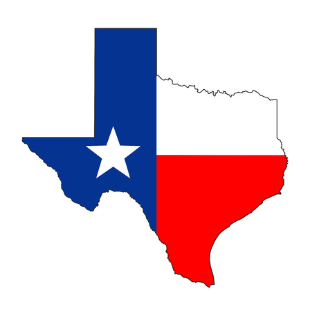 texas state flag: texas state usa national flag map shape illustration