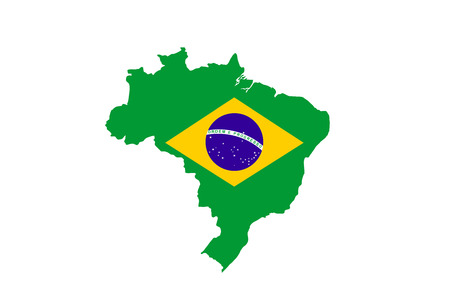 brazil country: brazil country flag map shape national symbol Stock Photo