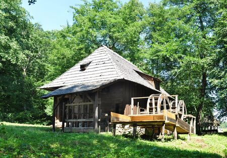 anthropological: sibiu romania ethno museum wood water mill
