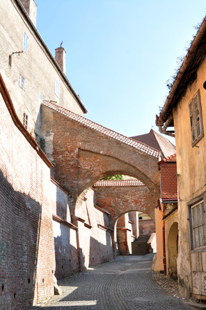 footway: Sibiu city Romania Lutheran Cathedral footway ramp