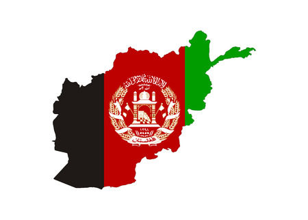 afghan flag: afghanistan country flag map shape national symbol