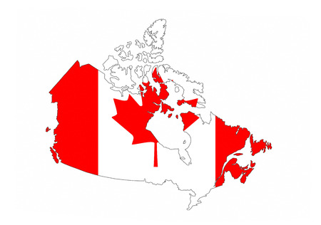 canada country: canada country flag map shape national symbol Stock Photo