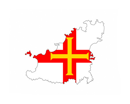 guernsey: guernsey country flag map shape national symbol