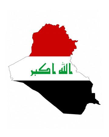 イラクの国旗地図図形国民記号