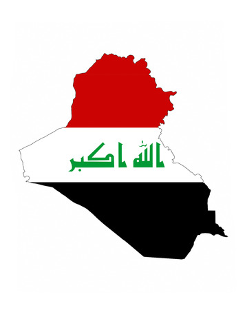 iraq country flag map shape national symbol Stock Photo - 38927454