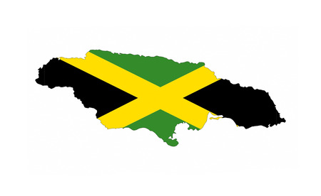 Jamaica Country Flag Map Shape National Symbol Stock Photo Picture