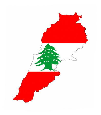 lebanon: lebanon country flag map shape national symbol