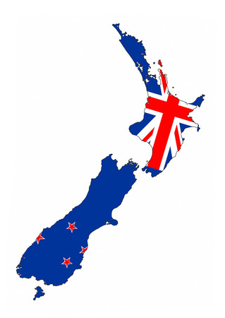 new zealand country flag map shape national symbol photo