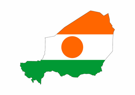 niger: niger country flag map shape national symbol