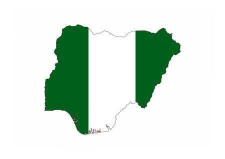 country nigeria: nigeria country flag map shape national symbol