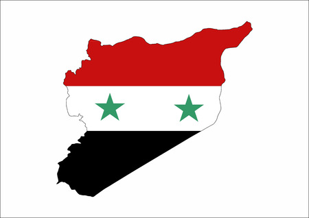 Syria Country Flag Map Shape National Symbol Stock Photo Picture