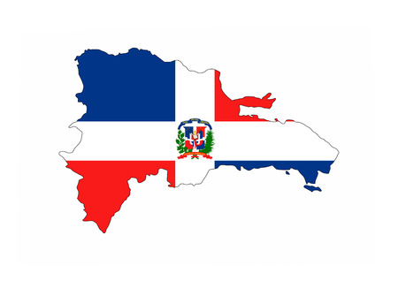 Dominican Republic Country Flag Map Shape National Symbol Stock