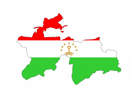 tajikistan: tajikistan country flag map shape national symbol