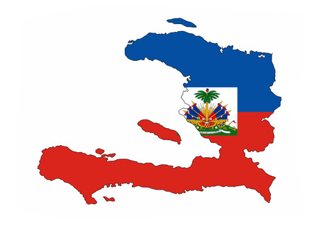 Haiti Country Flag Map Shape National Symbol Stock Photo Picture