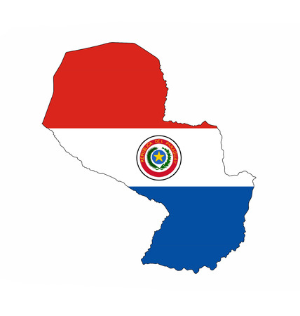 Paraguay Country Flag Map Shape National Symbol Stock Photo Picture