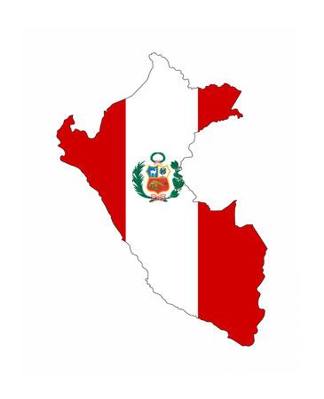republic of peru: peru country flag map shape national symbol