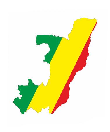 congo republic country flag map shape national symbol