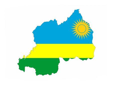 rwanda: rwanda country flag map shape national symbol