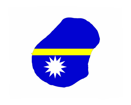 nauru: nauru country flag map shape national symbol