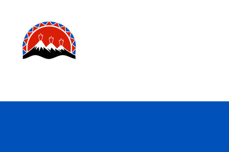 the federation: russian federation kamchatka people republic flag illustration