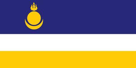buryatia: russian federation buryatia people republic flag illustration