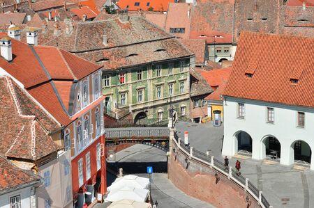 lier: bridge of lies sibiu city romania famous landmark Stock Photo