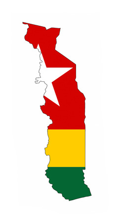 togo country flag map shape national symbol photo