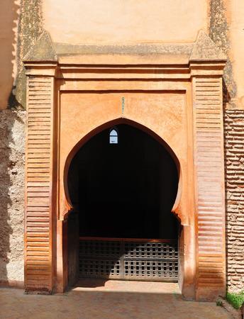 tumbas: marrakech city morocco saadian tombs archway  landmark architecture Foto de archivo