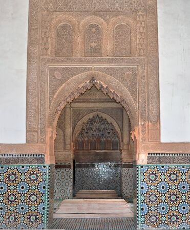 archway: marrakech city morocco saadian tombs archway  landmark architecture Editorial