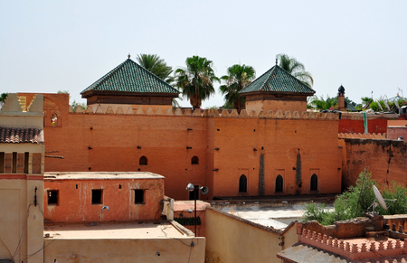 tumbas: marrakech marruecos ciudad Tumbas Saadi arquitectura techo hito