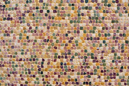 shards: ceramic hone and tile shards mosaic pattern background Stock Photo