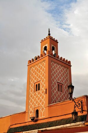 el: marrakech city morocco Jemaa el Fna Mosque landmark architecture