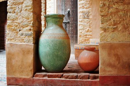 medina: agadir city morocco medina landmark arab ceramic vase