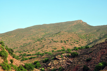 atlas: morocco outdoor general view and atlas mountains landscape